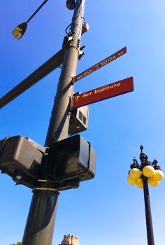0915 Art Institute Street Sign